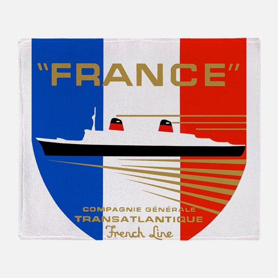 French Line 1 Throw Blanket