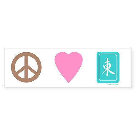 Peace Love Mah-Jong Bumper Sticker