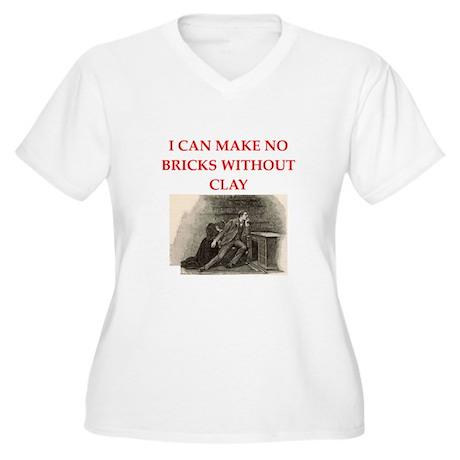 sherlock holmes Women's Plus Size V-Neck T-Shirt
