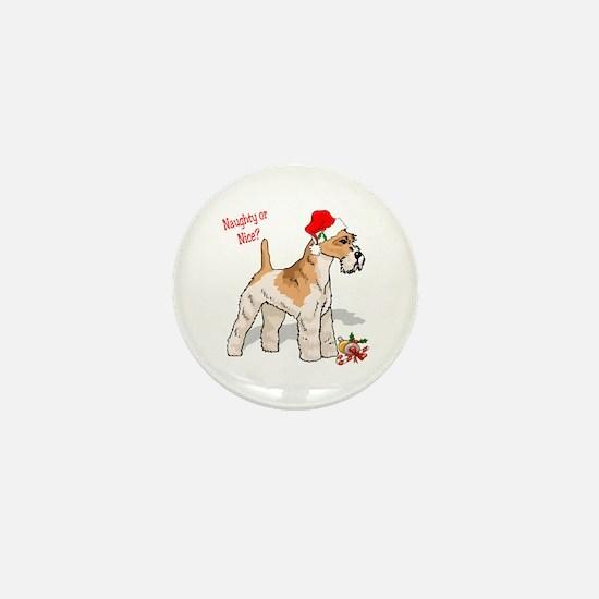 Fox Terrier Naughty/Nice Mini Button