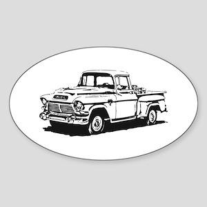 Old GMC pick up Sticker (Oval)