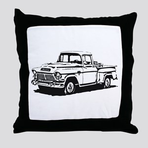 Old GMC pick up Throw Pillow