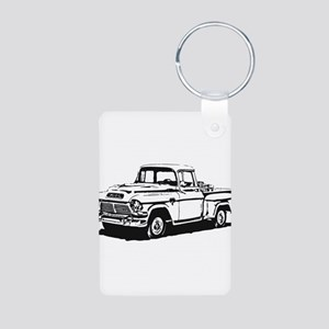 Old GMC pick up Aluminum Photo Keychain