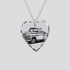 Old GMC pick up Necklace Heart Charm