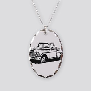 Old GMC pick up Necklace Oval Charm