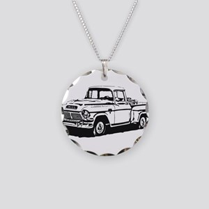 Old GMC pick up Necklace Circle Charm