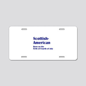 Scottish American Aluminum License Plate