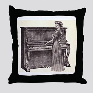 Vintage Woman Throw Pillow