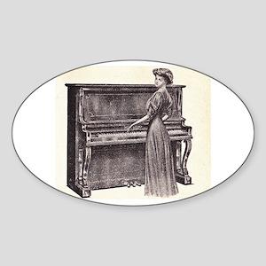 Vintage Woman Sticker (Oval)
