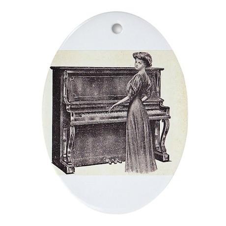 Vintage Woman Ornament (Oval)