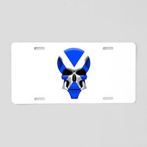 Scottish Skull Aluminum License Plate