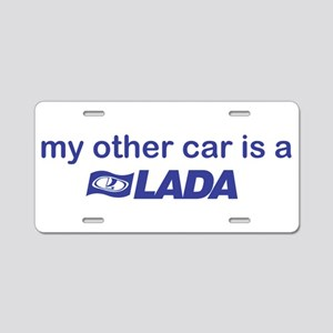 My other car is a Lada Aluminum License Plate