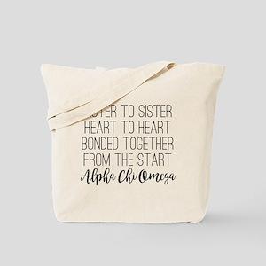 Alpha Chi Omega Sisters Tote Bag