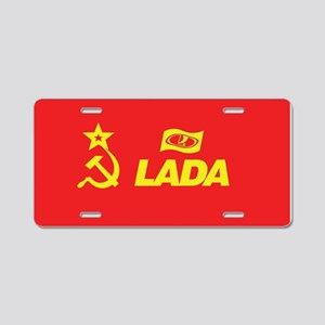 Hammer and Sickle Lada Logo Aluminum License Plate