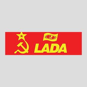 Hammer and Sickle Lada Logo 42x14 Wall Peel