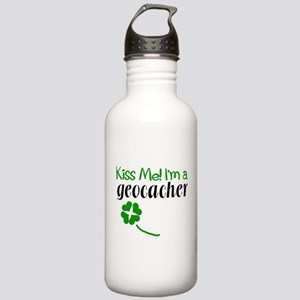 Kiss Me! I'm a Geocacher Stainless Water Bottle 1.