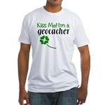 Kiss Me! I'm a Geocacher Fitted T-Shirt