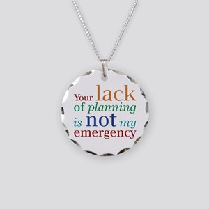 Planning Necklace Circle Charm