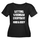 Getting Stronger...... Women's Plus Size Scoop Nec