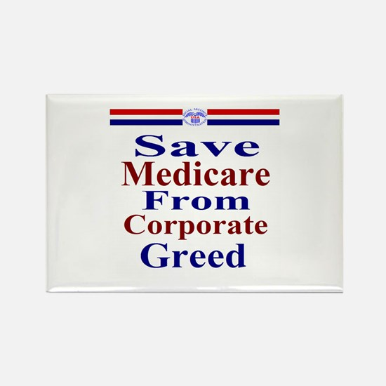 Save Medicare Rectangle Magnet