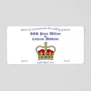 Royal Wedding Aluminum License Plate