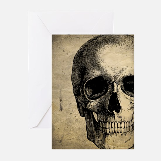 Vintage Skull Greeting Cards