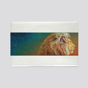Quiet Lion Rectangle Magnet