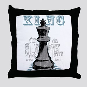 Black King Chess Mate Throw Pillow