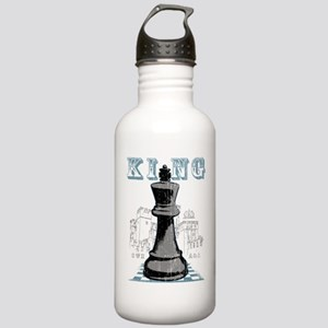 Black King Chess Mate Stainless Water Bottle 1.0L