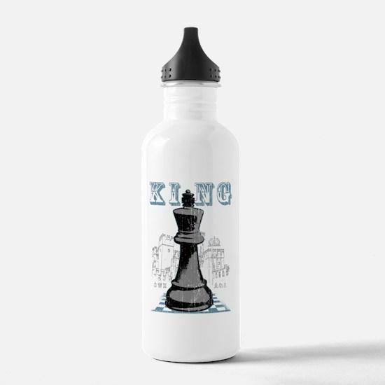 Black King Chess Mate Water Bottle