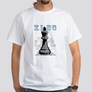 Black King Chess Mate White T-Shirt