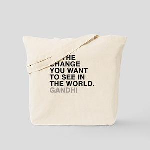 gandhi quotes Tote Bag