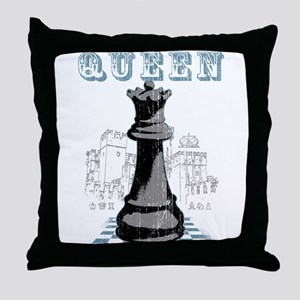 Black Queen Chess Mate Throw Pillow