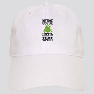 Funny Frog Mean Witch Cap