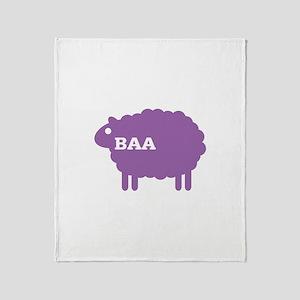 Sheep: Baa Throw Blanket