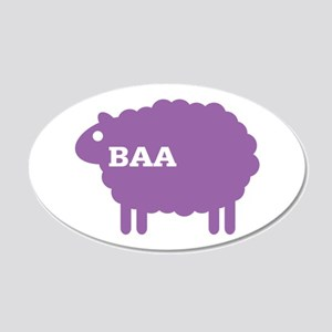 Sheep: Baa 22x14 Oval Wall Peel