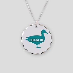 Duck: Quack Necklace Circle Charm
