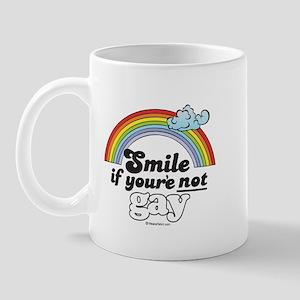 SMILE if you're NOT gay -  Mug