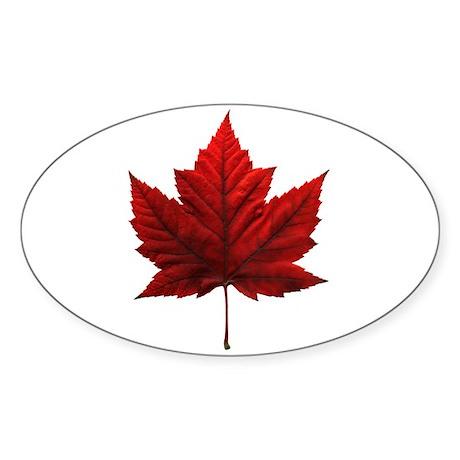Canada Souvenir Sticker (Oval)