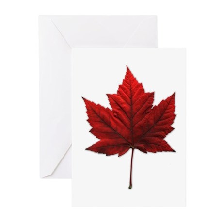 Canada Maple Leaf Souven Greeting Cards (Pk of 10)