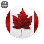 """Canada Maple Leaf Souvenir 3.5"""" Button (10 pack)"""