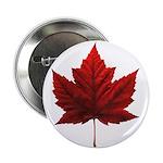 """Canada Maple Leaf Souvenir 2.25"""" Button (100 pack)"""