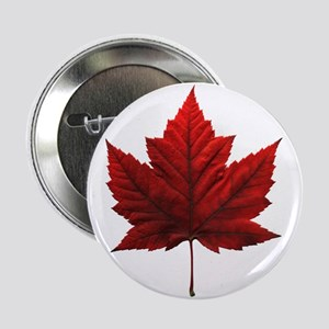 "Canada Maple Leaf Souvenir 2.25"" Button"