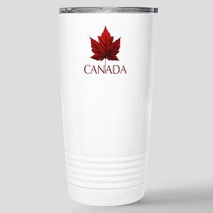 Canada Maple Leaf 16 oz Stainless Steel Travel Mug