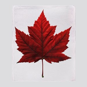 Canada Maple Leaf Souvenir Throw Blanket