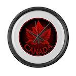 Canada Maple Leaf Souvenir Large Wall Clock