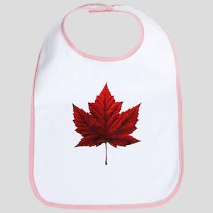 Canada Maple Leaf Souvenir Cotton Baby Bib