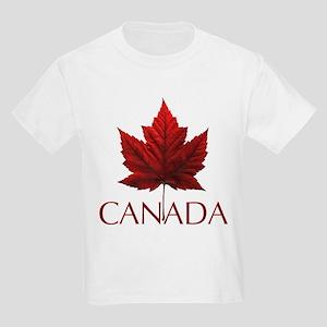 Canada Maple Leaf Souvenir Kids Light T-Shirt