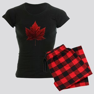 Canada Maple Leaf Souvenir Women's Dark Pajamas