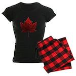 Canada Maple Leaf Souvenir Women's Dark Pajamas